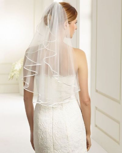 Satin Edge Bridal Veil, Satin Edge Wedding Veil, Wedding Veil
